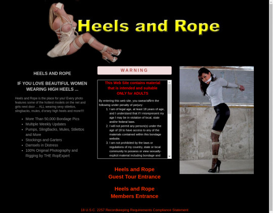 heels and rope