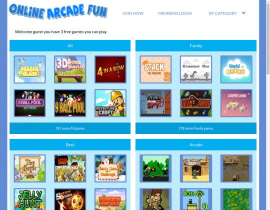 online arcade fun